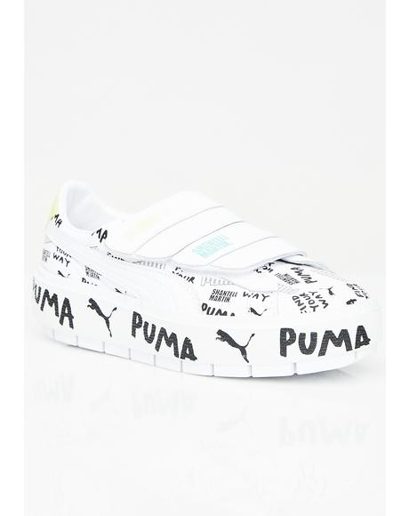 X Shantell Martin Platform Trace Strap Sneakers