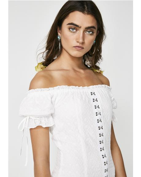 Meraki Off Shoulder Dress