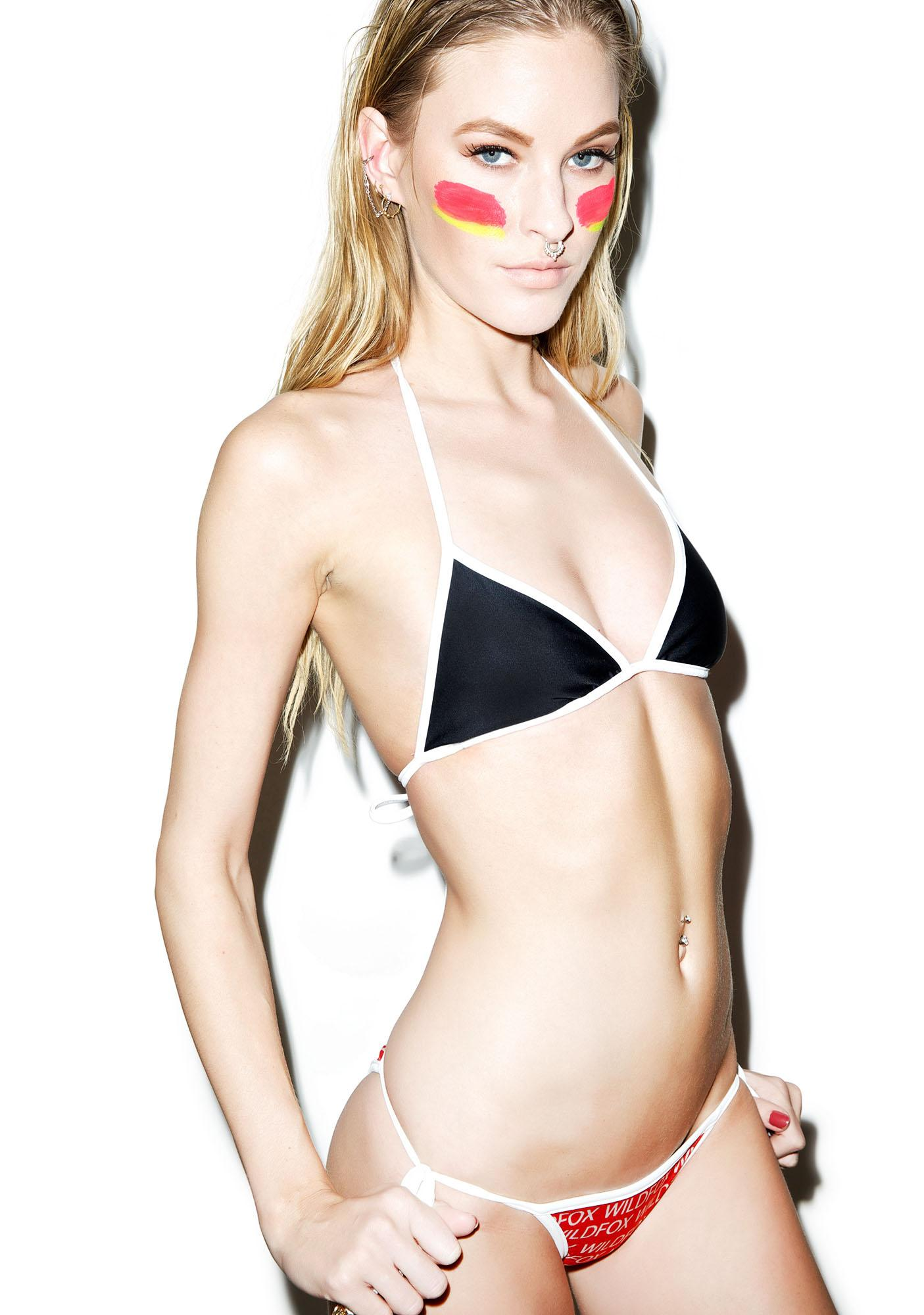 Wildfox Couture This Bod's For You Reversible Contrast String Top