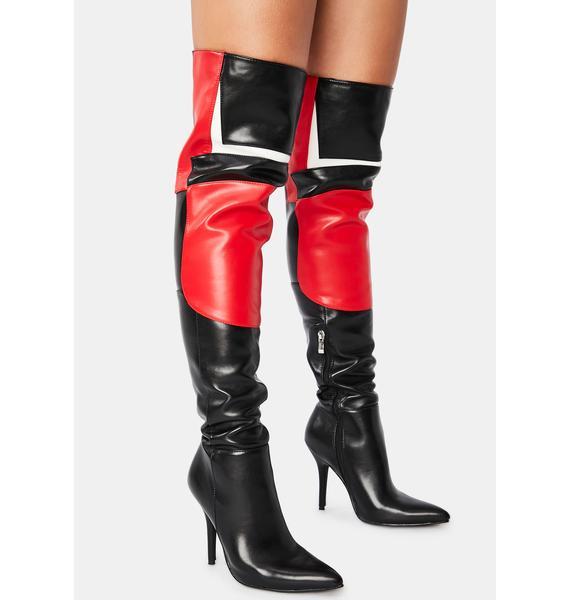 AZALEA WANG Blaze Thigh High Boots