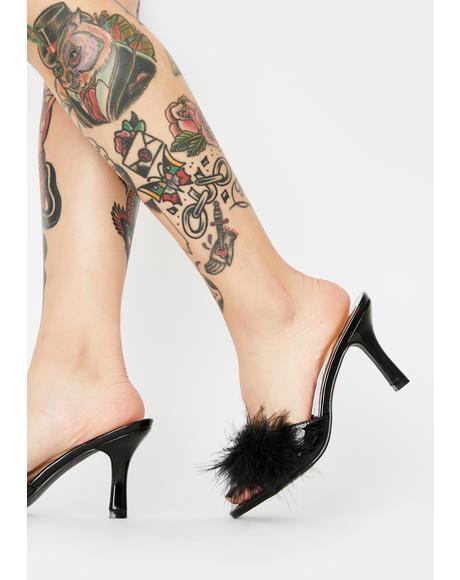Sasha Marabou Kitten Heels