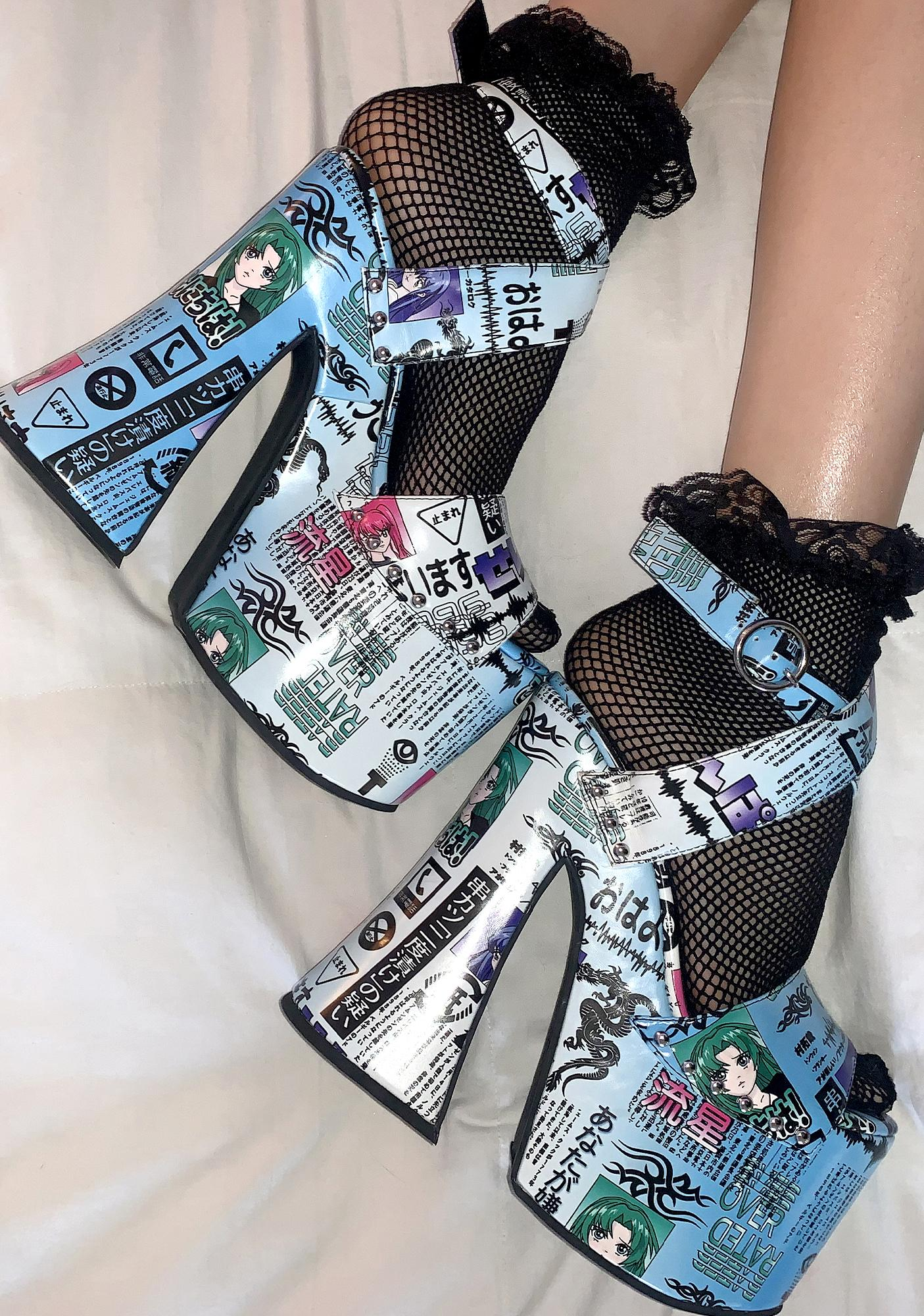 Current Mood To Be Continued Platform Heels