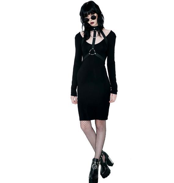 Killstar Jett Black She's Hot Dress