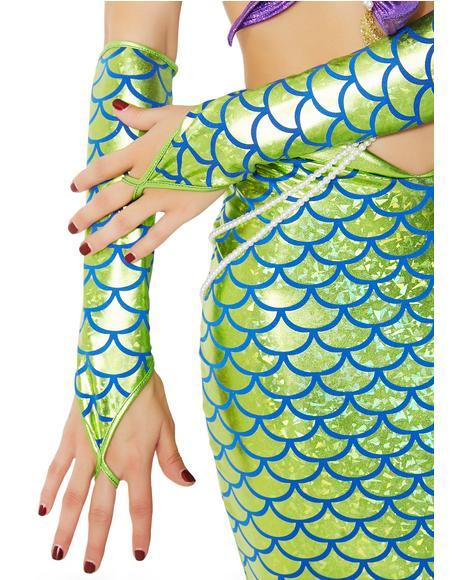 Seafoam Of The Sea Fingerless Gloves