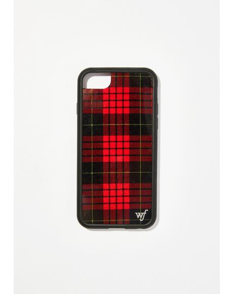 Red Plaid iPhone Case