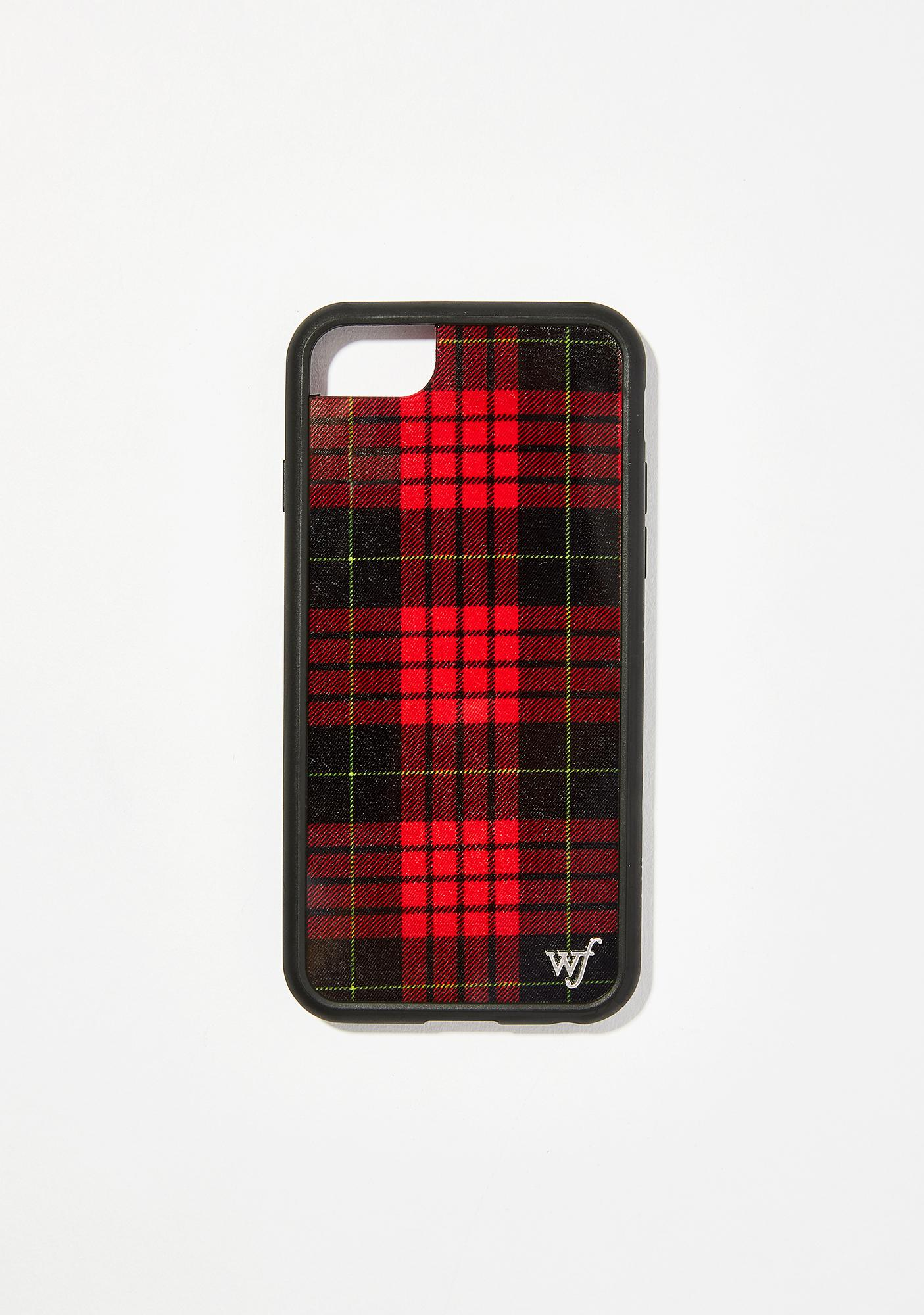 timeless design cb206 a24c3 Red Plaid iPhone Case