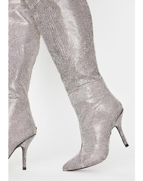 Up And Coming Thigh High Boots