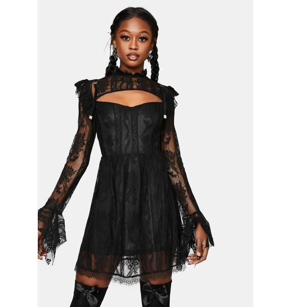 Punk Rave Hollow Out Lace Dress