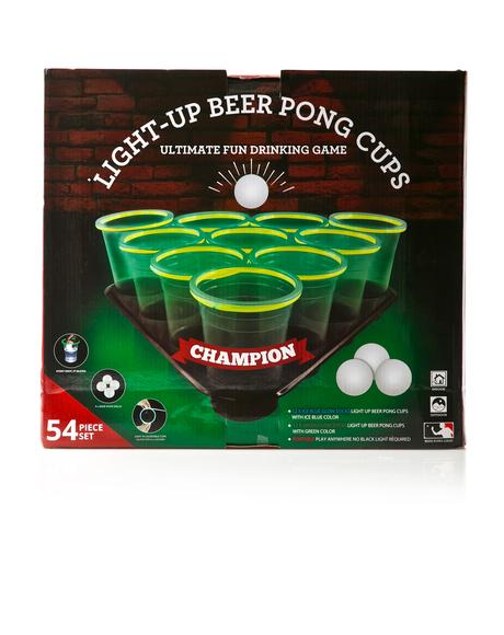 Glowing Beer Pong Set