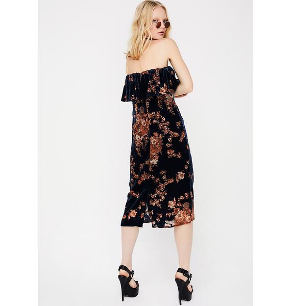 Pullin' Petals Burnout Dress