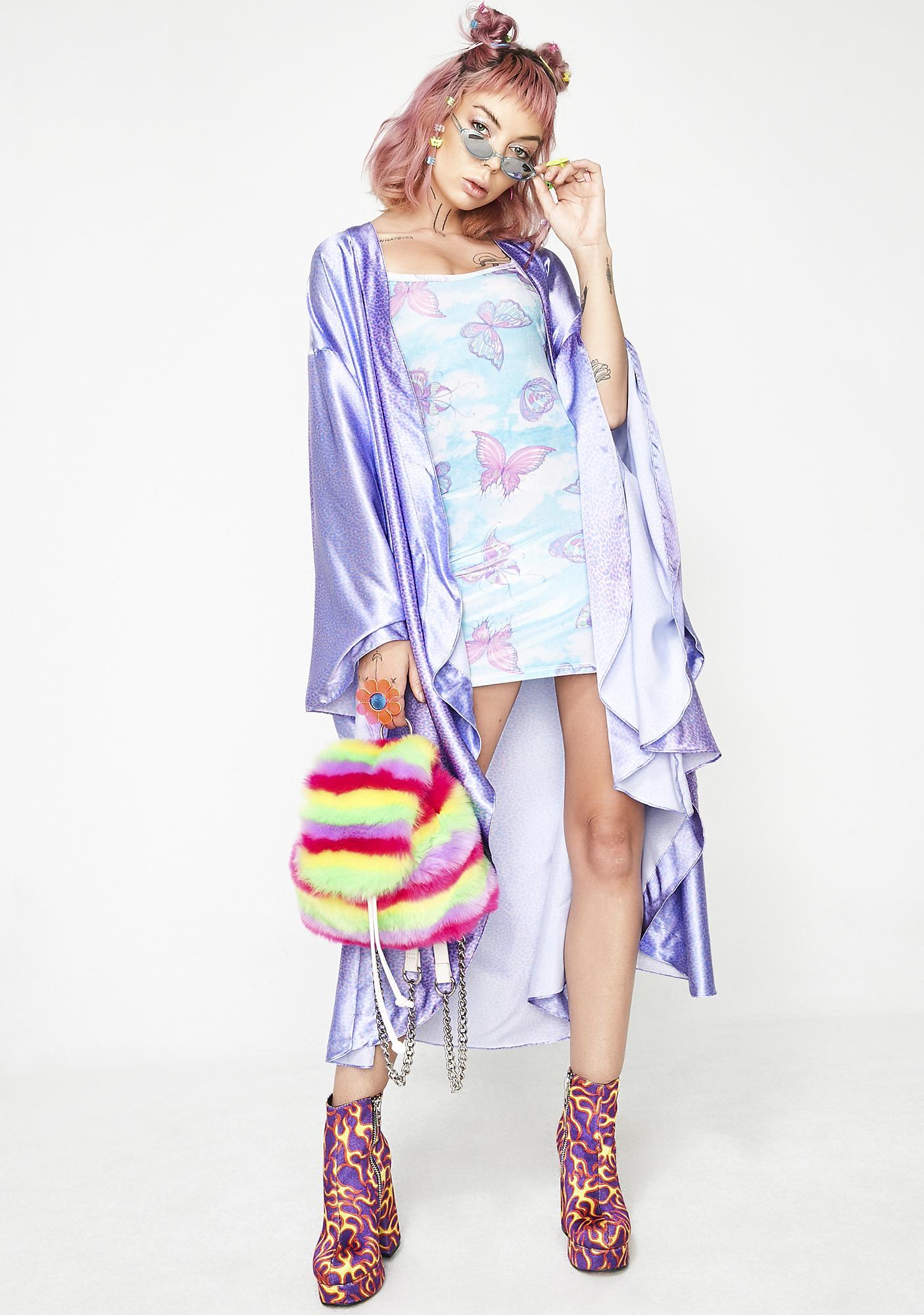 Sparkl Fairy Couture Cheetah Elegance Kimono