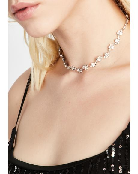 Diamonds Only Rhinestone Choker