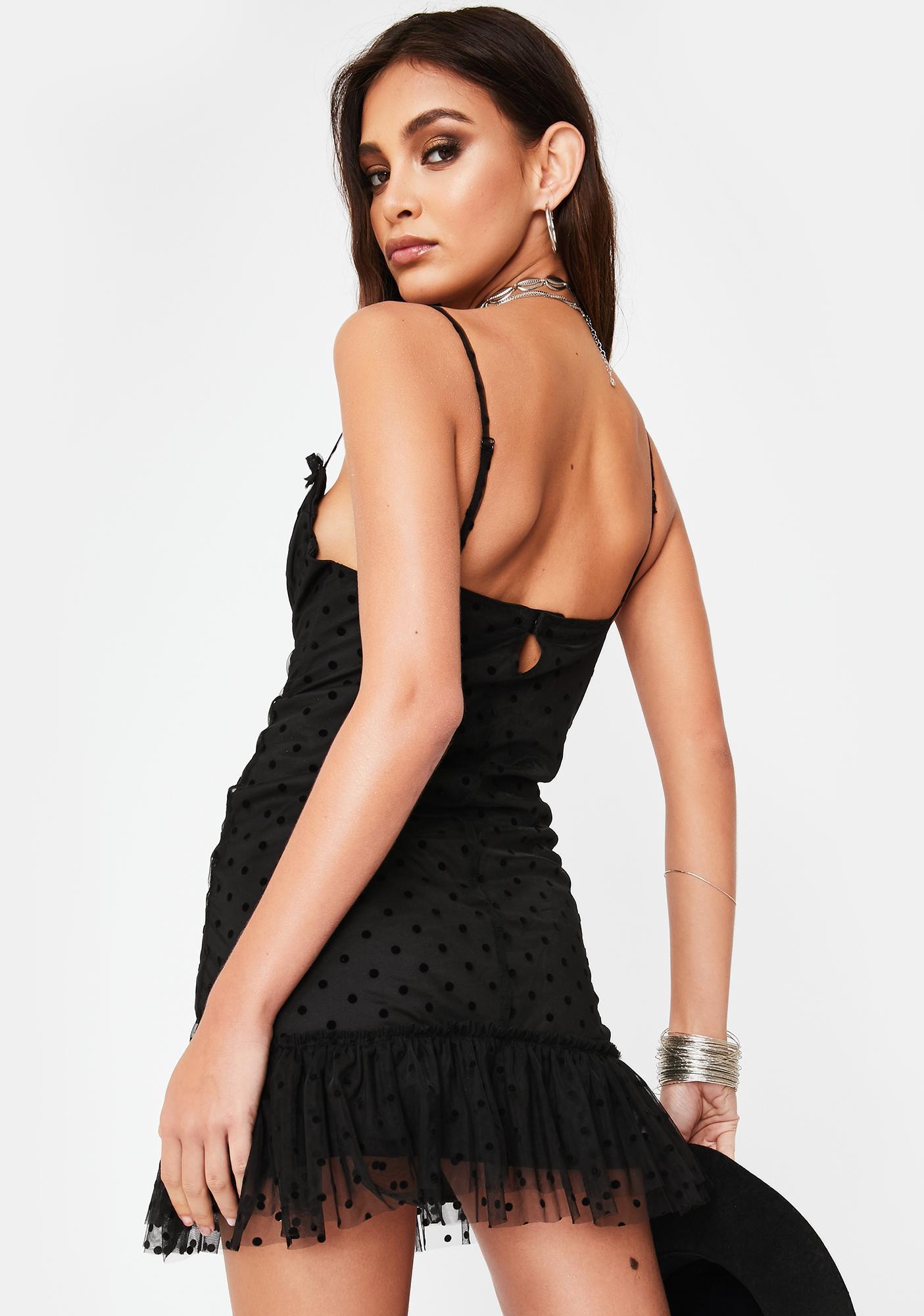 Ebonie N Ivory Mesh Cami Bra Dress