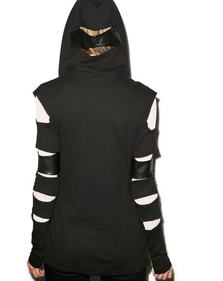 Slash Sleeve Hoodie