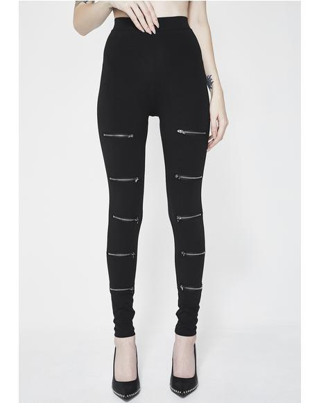 Nice For What Zip Leggings