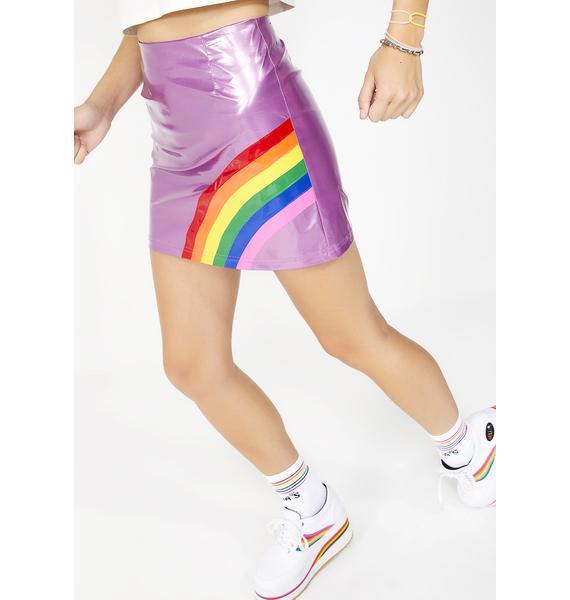 dELiA*s by Dolls Kill Rainbow Magic Mini Skirt
