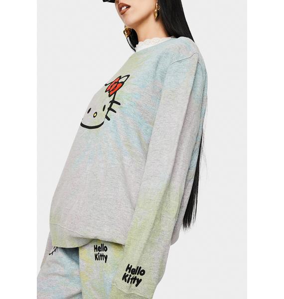 NEW GIRL ORDER Hello Kitty Tie Dye Sweatshirt