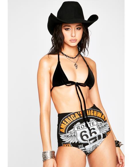 Route 66 Hot Shorts Set