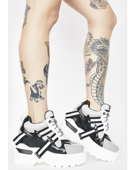 Oval Platform Sneakers