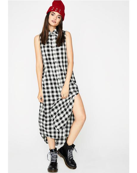 Hardly Tryin' Plaid Dress