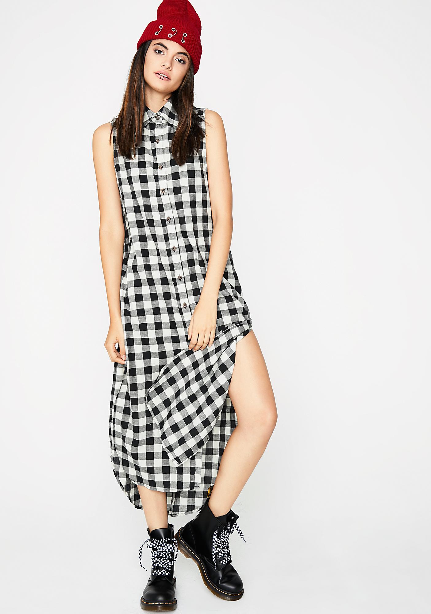 Hardly Tryin' Plaid Dress