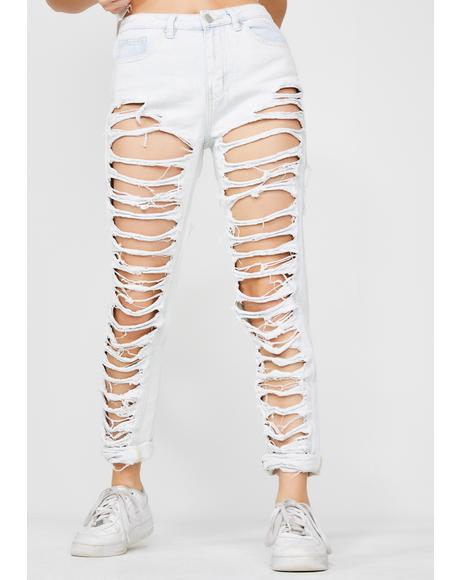 Rebel Rampage Distressed Jeans