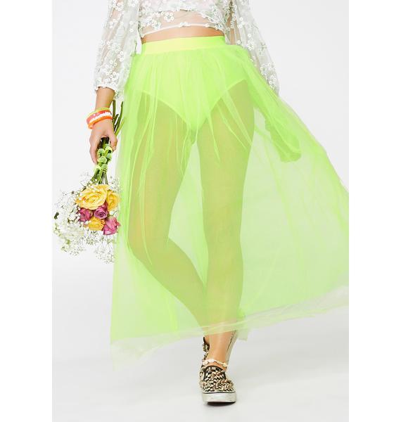Slime Vicious Vapor Tulle Skirt