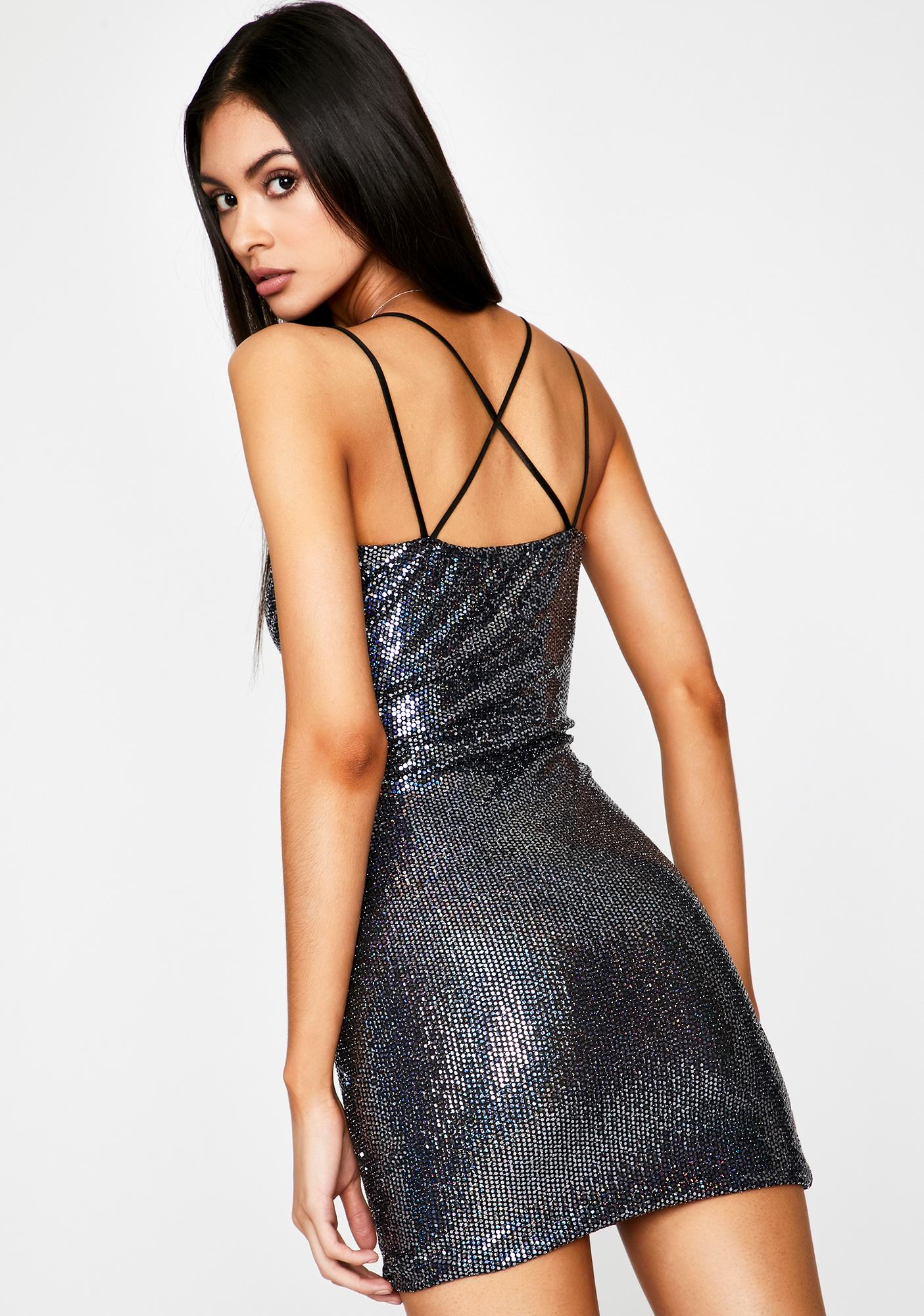 Wicked Midnight Glam Sequin Dress
