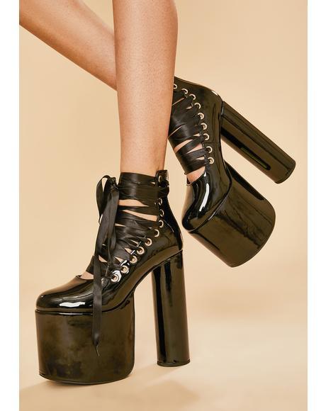 Dark Euphoria Platform Heels