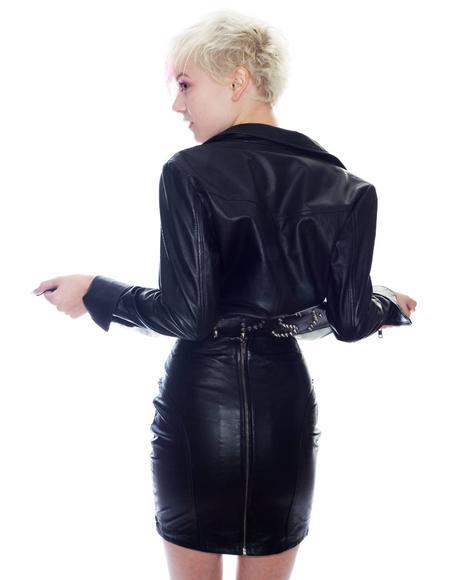 Gypsy Leather Skirt