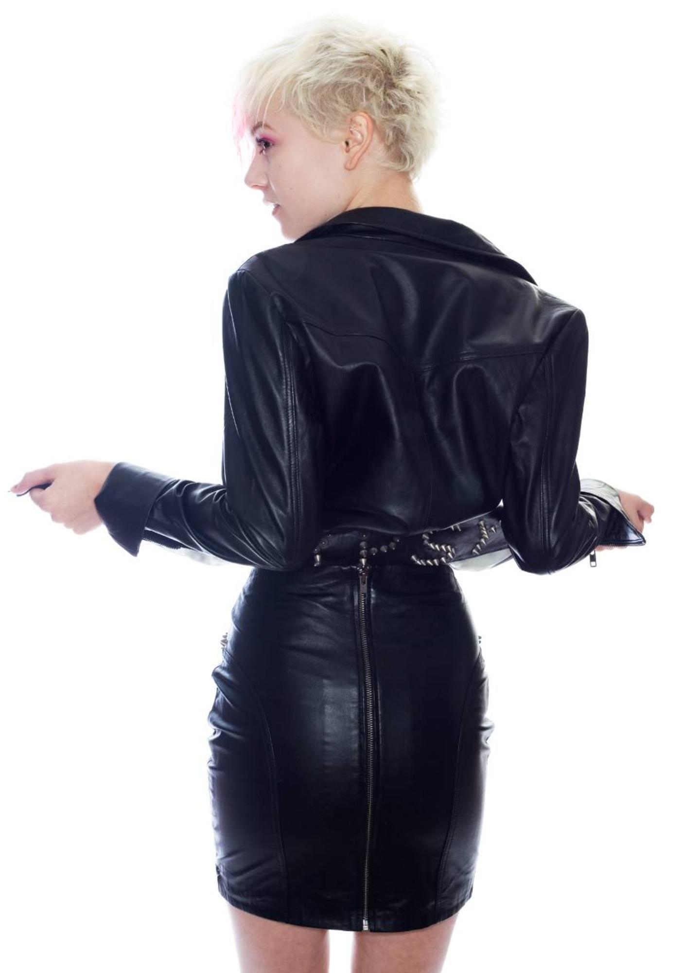 One Teaspoon Gypsy Leather Skirt