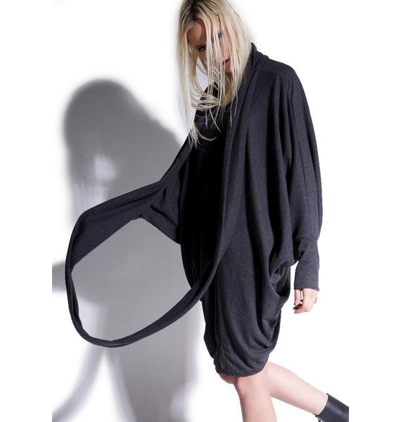 MNML Invocations Draped Batwing Top