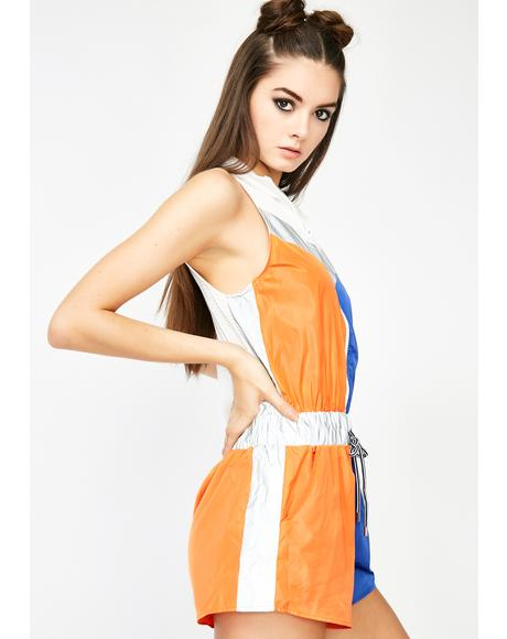 Try To Keep Up Reflective Romper