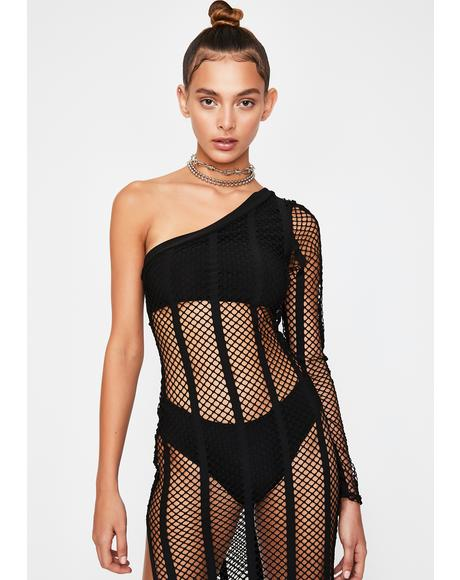 Sundown Fishnet Dress