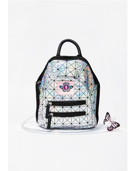 Holographic Disco Mini Hydration Backpack