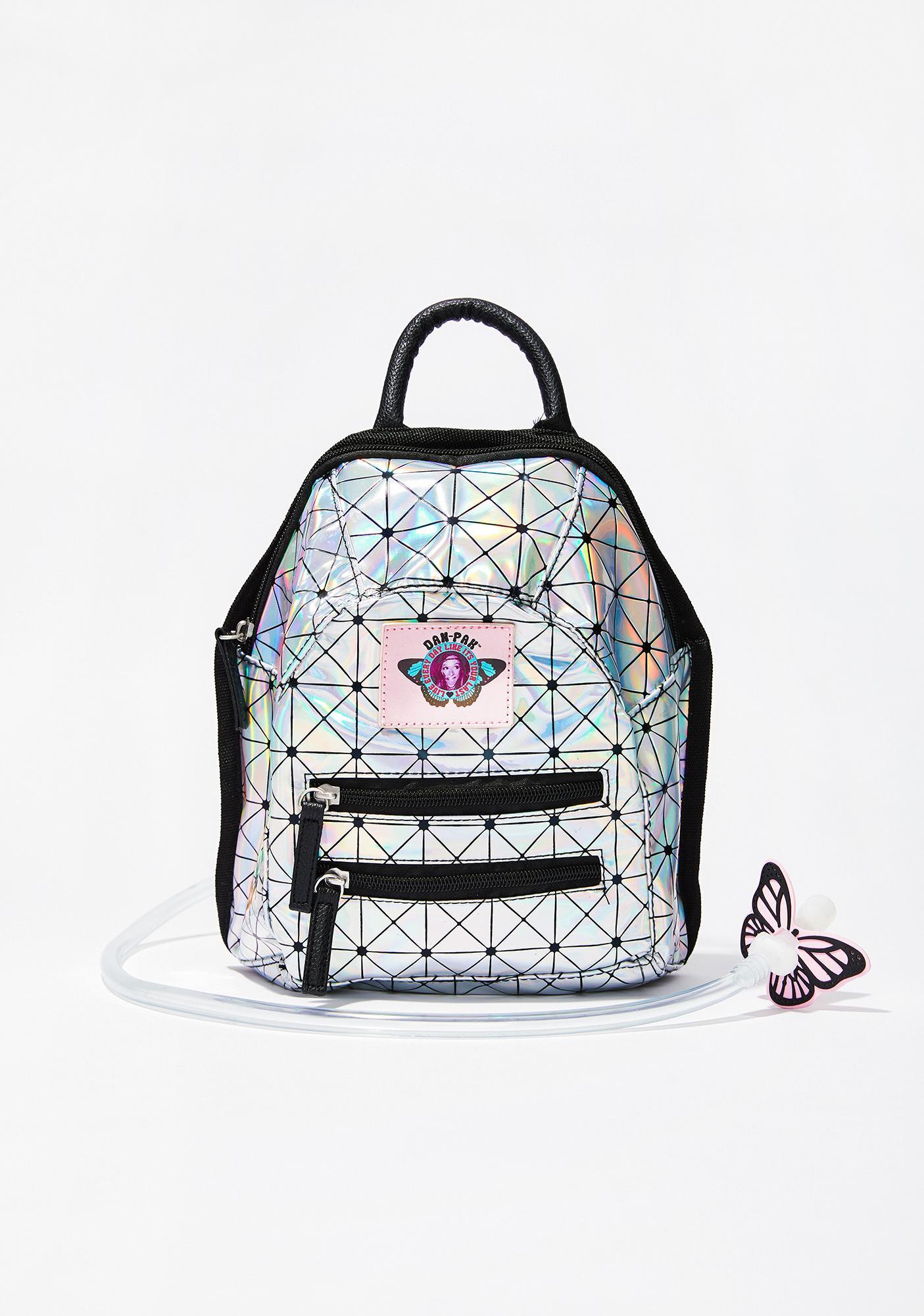 Dan-Pak Holographic Disco Mini Hydration Backpack