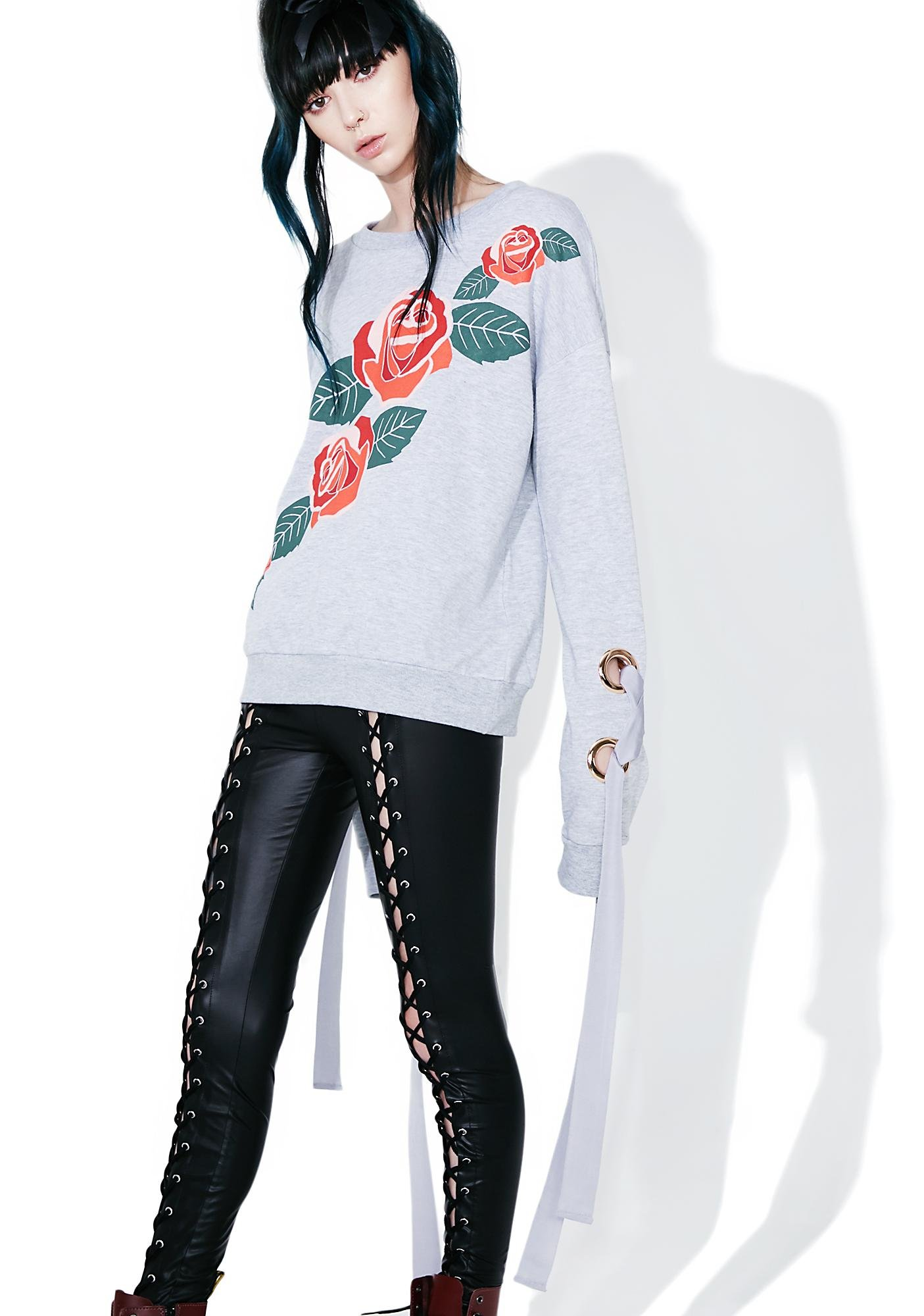 Mink Pink Once Upon A Time Applique Sweatshirt