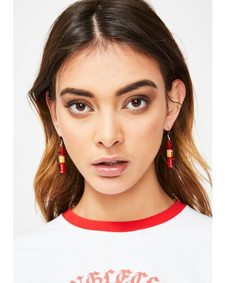 Born To Burn Fire Extinguisher Earrings