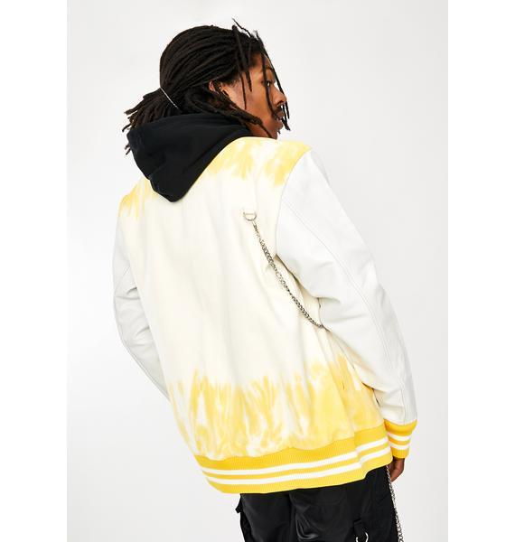 Renowned LA Tie Dye Varsity Jacket