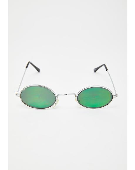 Oval Eyes On You Hologram Sunglasses