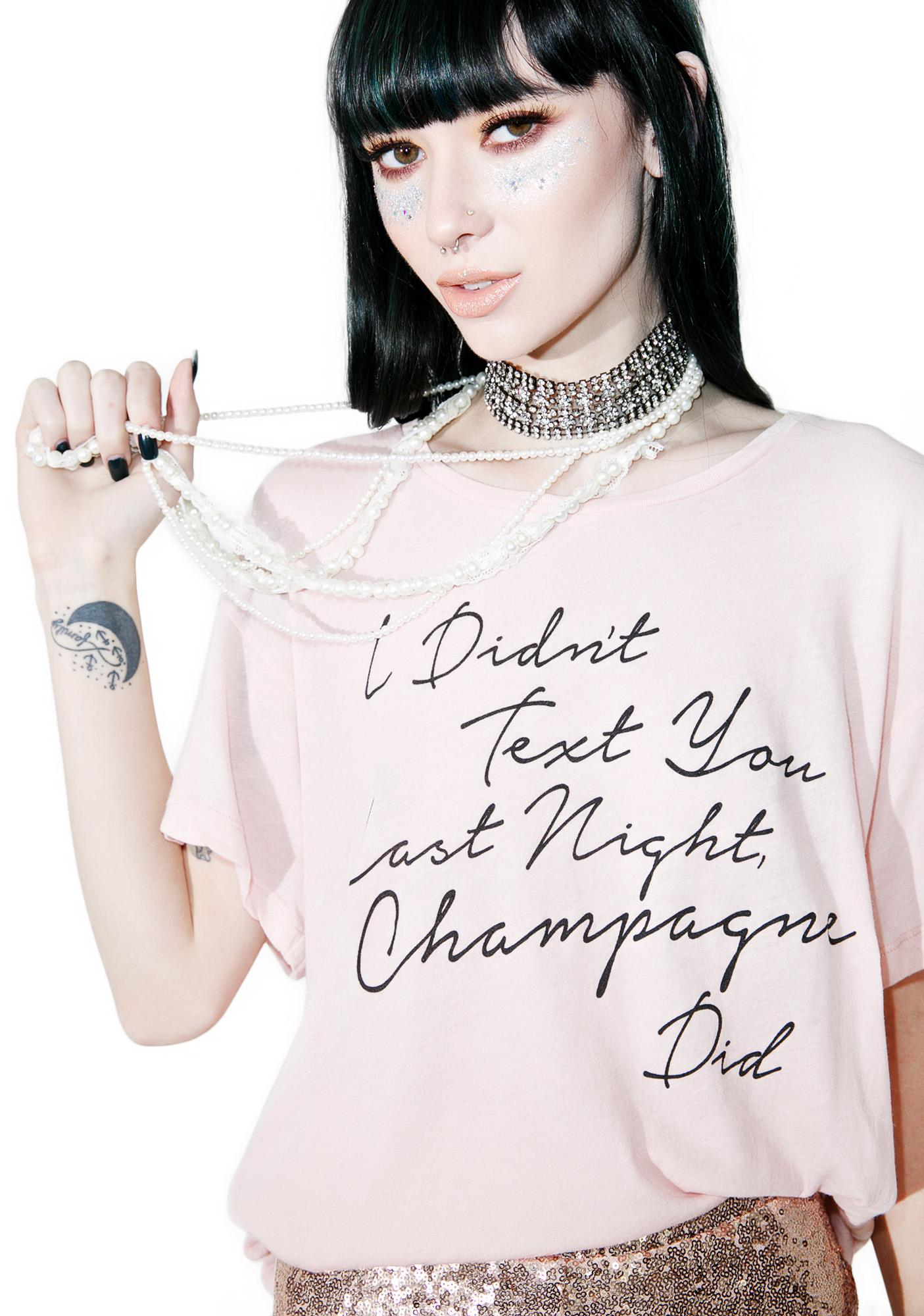 Wildfox Couture Drunk Text Manchester Tee