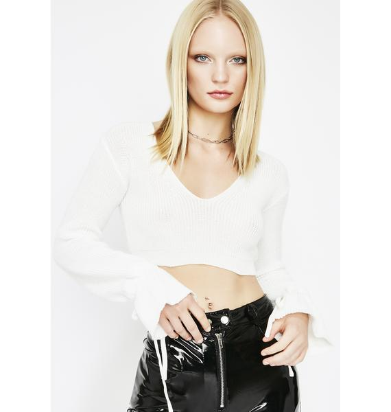 Livin' For It Crop Sweater