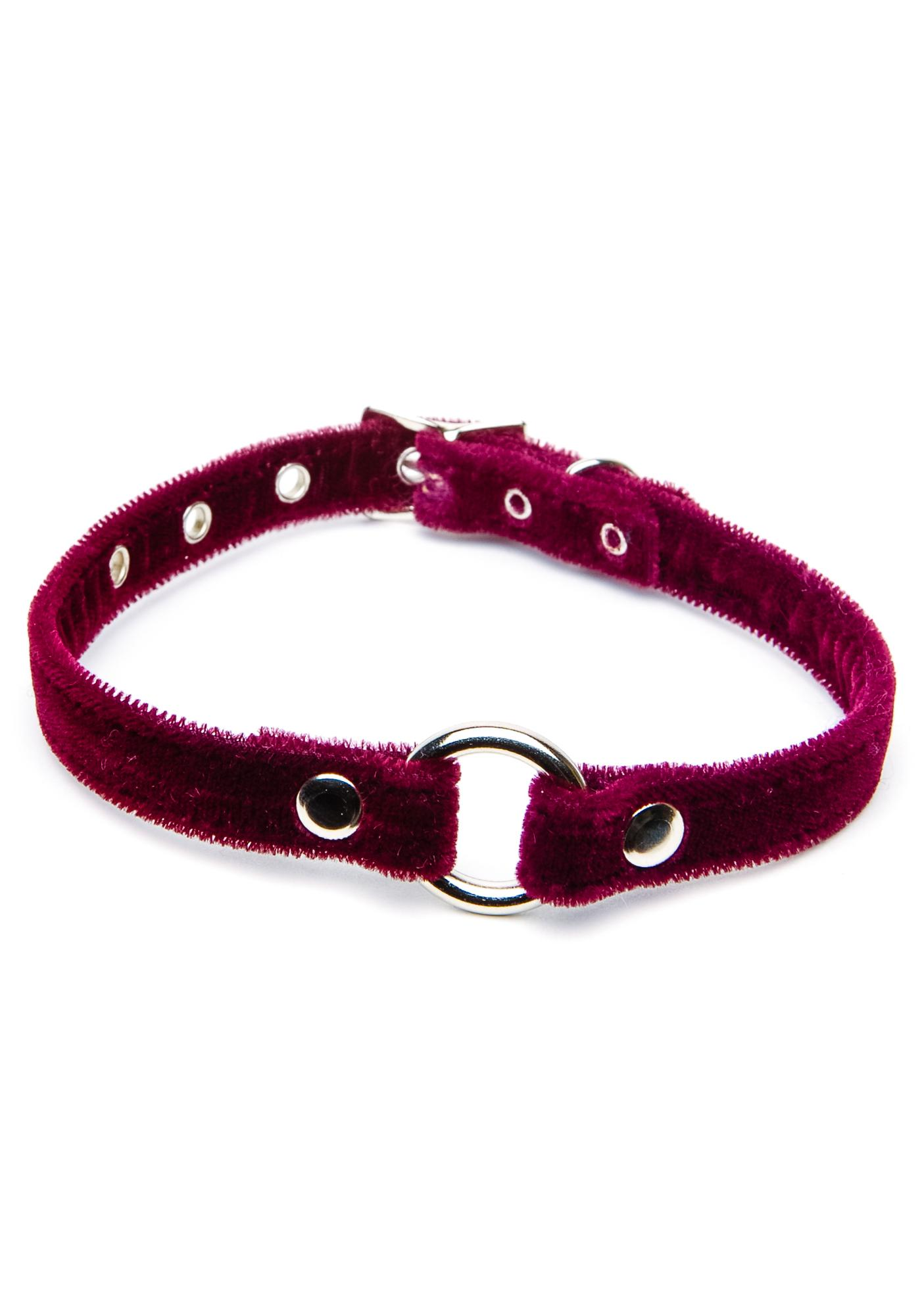 Club Exx Just Say O Velvet Choker