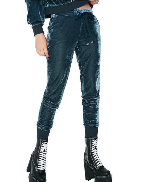 Go Get It Velour Jogger Pants