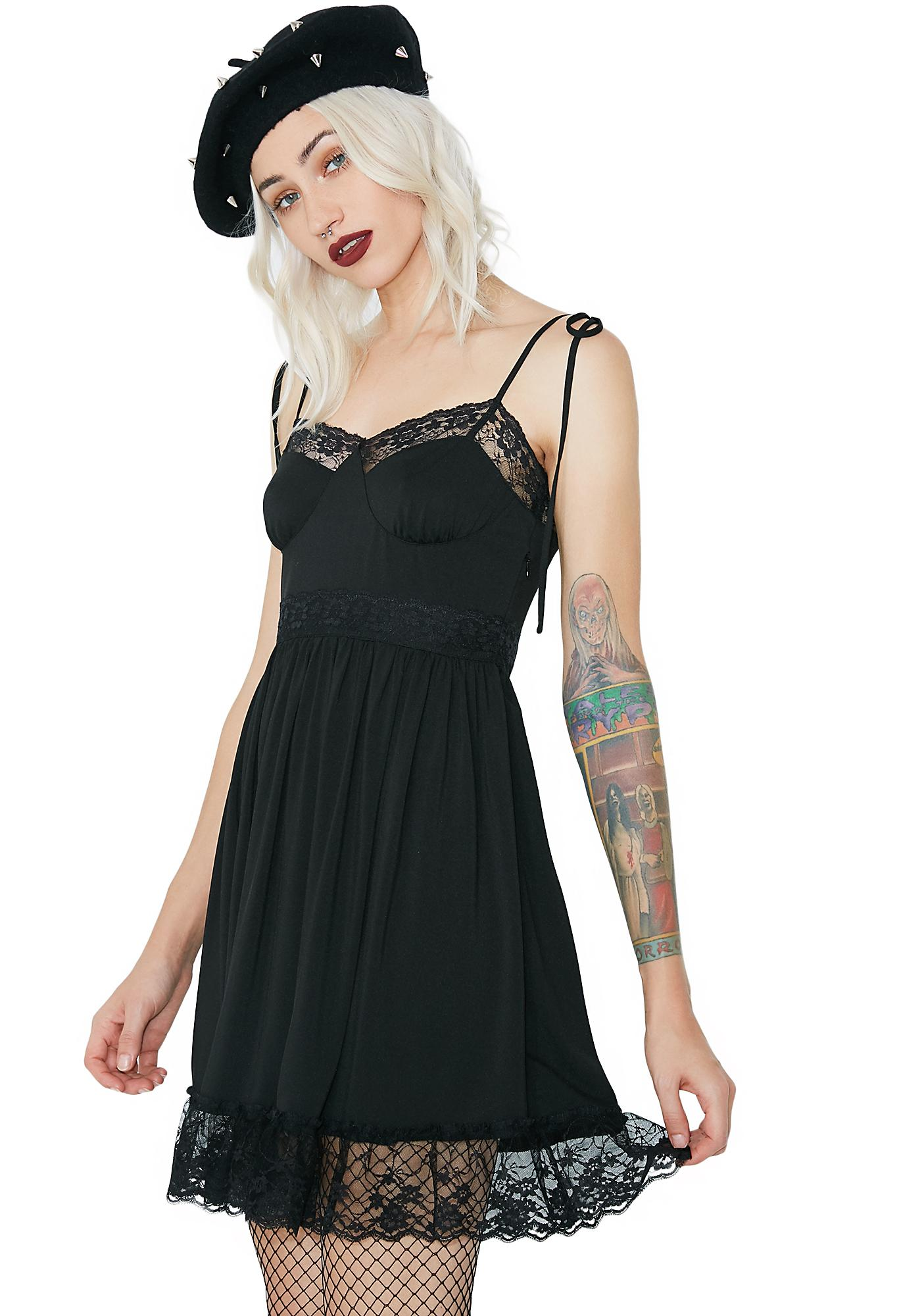 Sugar Thrillz Midnight Cutie Chaser Lacy Dress