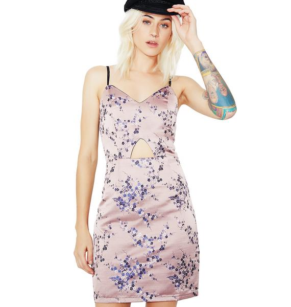 Glamorous Sakura Embroidered Dress