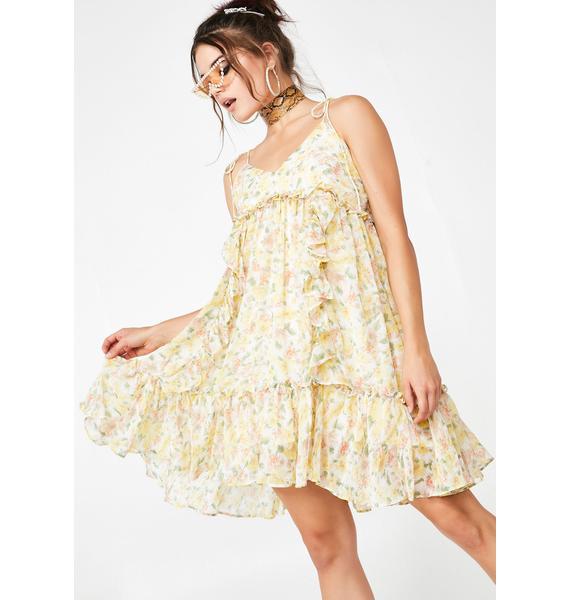 Citrus Kisses Floral Dress