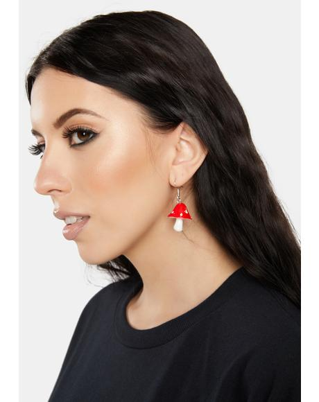 Eat Me Mushroom Drop Earrings