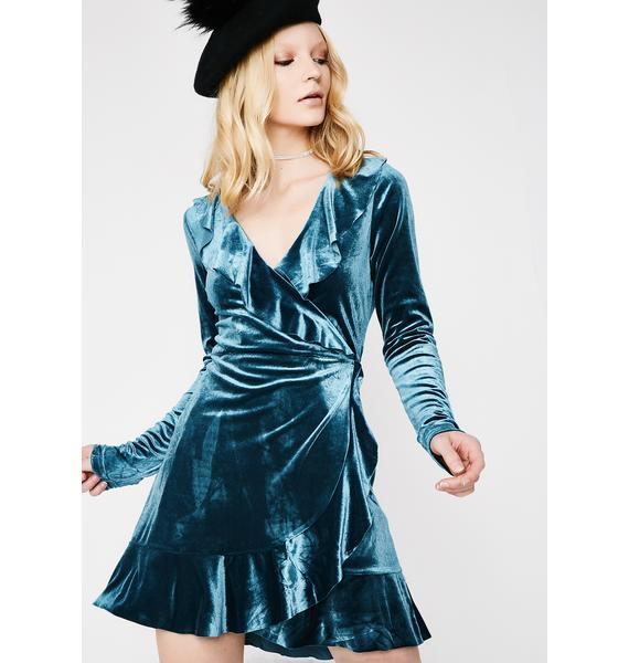 Good Timing Wrap Dress