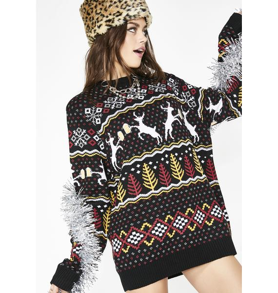 Tipsy Elves Caribrew Ugly Christmas Sweater